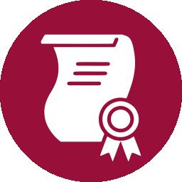 icon certificado